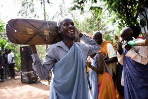 Man laughing in Rwanda